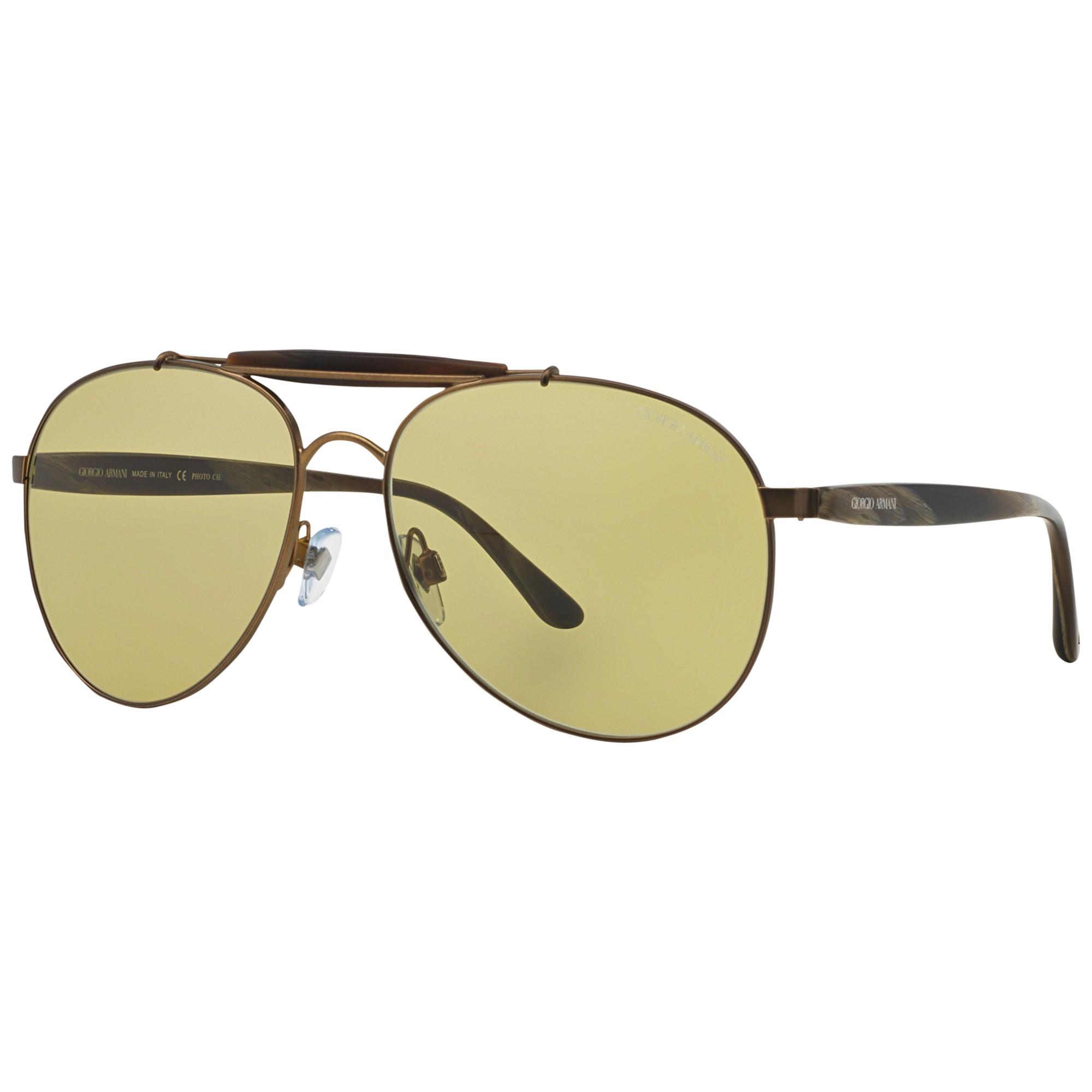 1ea45ccb4f Giorgio Armani Ar6022 Pilot Metal Framed Sunglasses in Gray - Lyst