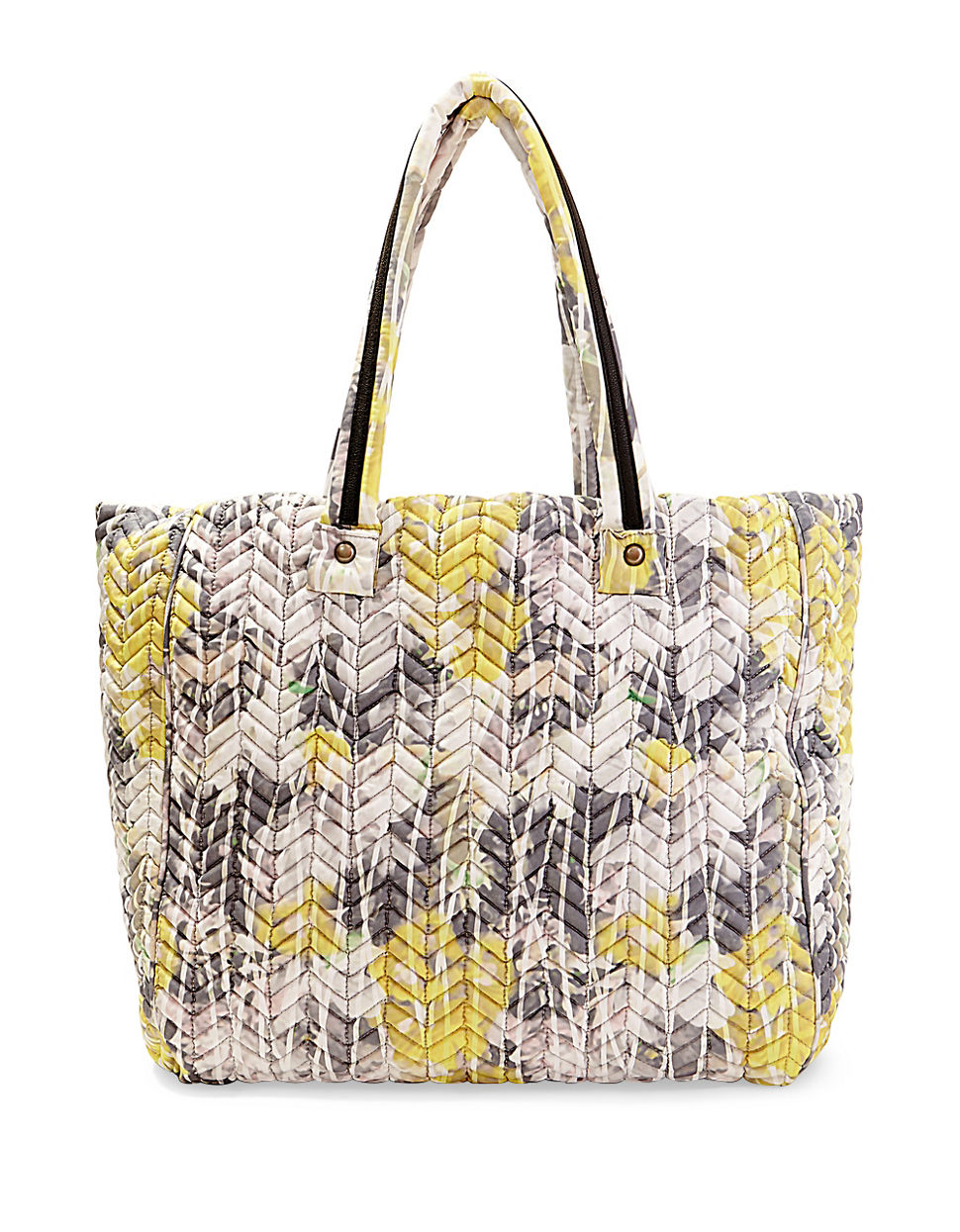Steven By Steve Madden Sportie Chevron Quilted Nylon Tote