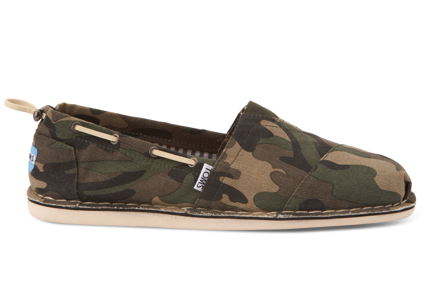 b66373f7e9f7d TOMS Washed Camo Mens Biminis in Natural for Men - Lyst