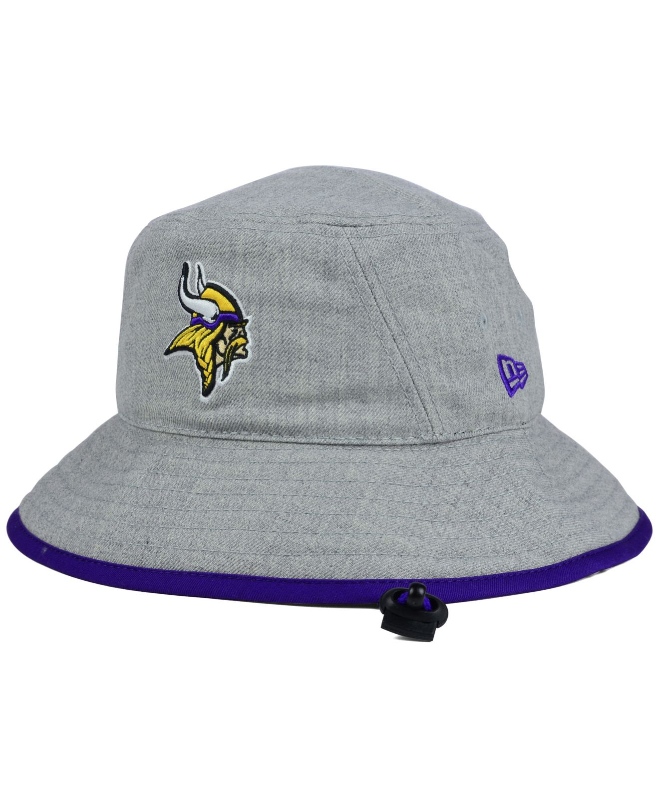 outlet store 244be c3009 ... discount lyst ktz minnesota vikings nfl heather gray bucket hat in gray  7ba2a 7b198