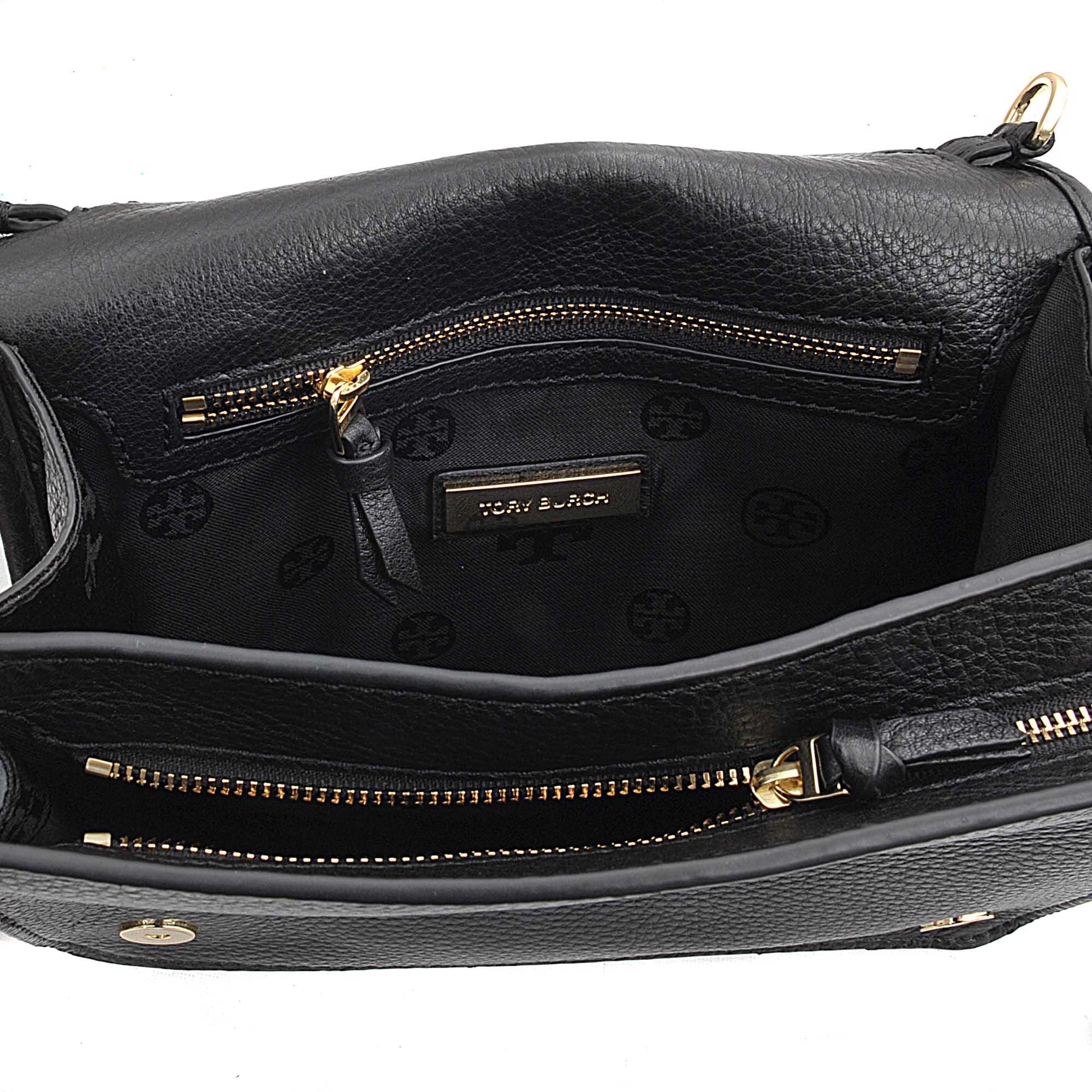 1b53e90a33f33 Lyst - Tory Burch Britten Combo Crossbody Bag in Black