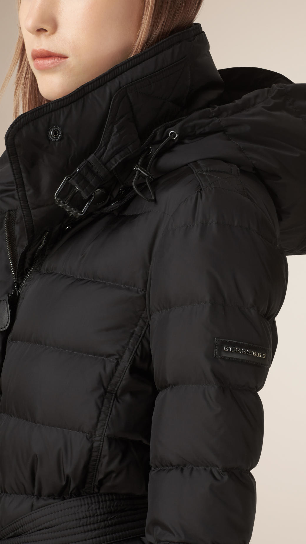Burberry Down-filled Puffer Coat in Black | Lyst