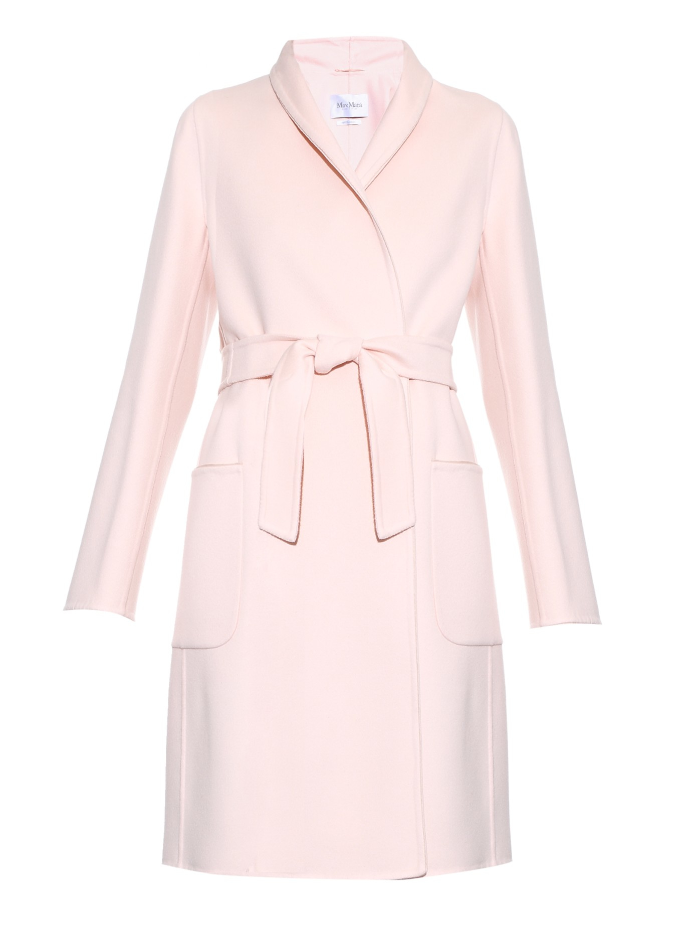 light pink coat max mara saul coat in pink lyst 948
