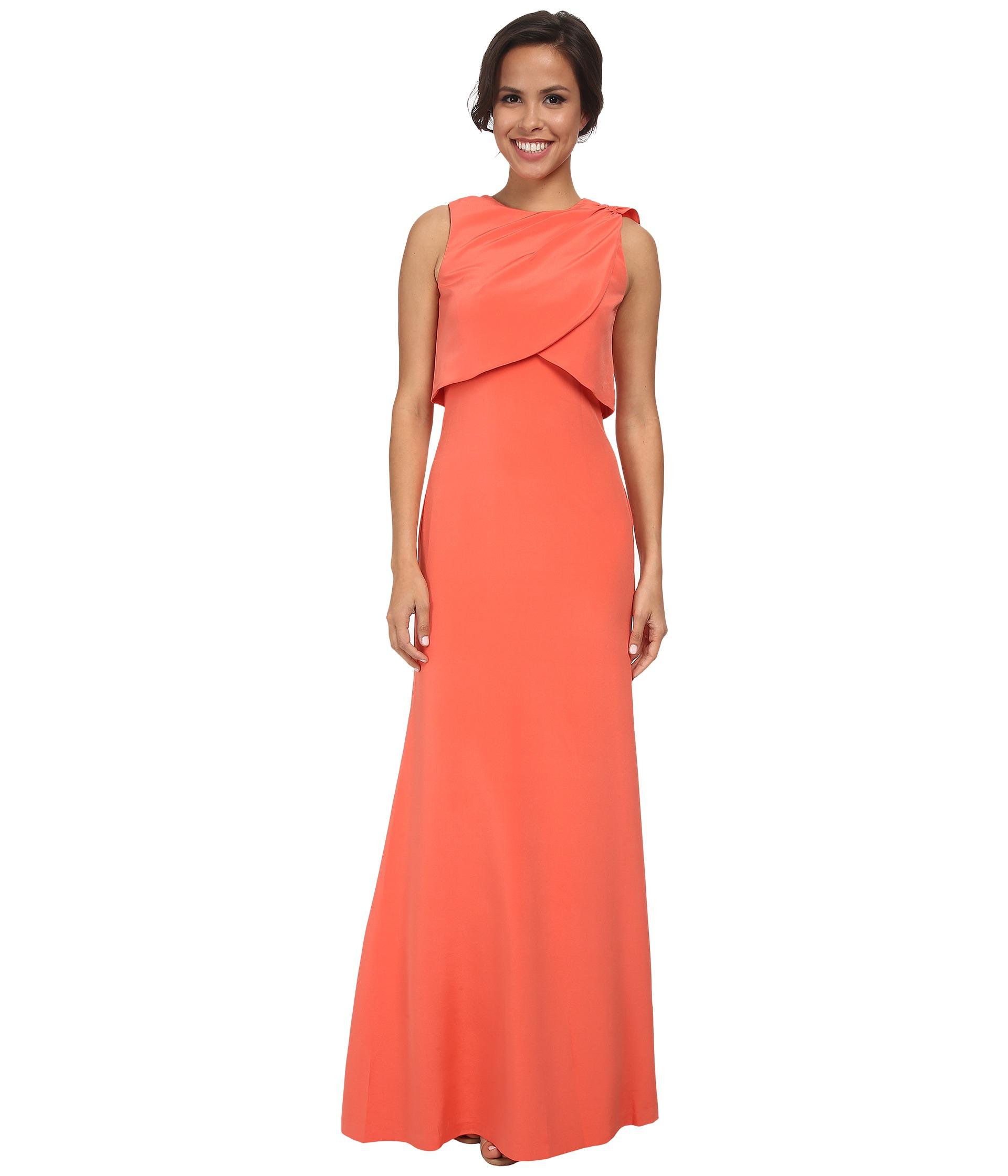 Lyst - Nicole Miller Silk Pari Gown in Pink