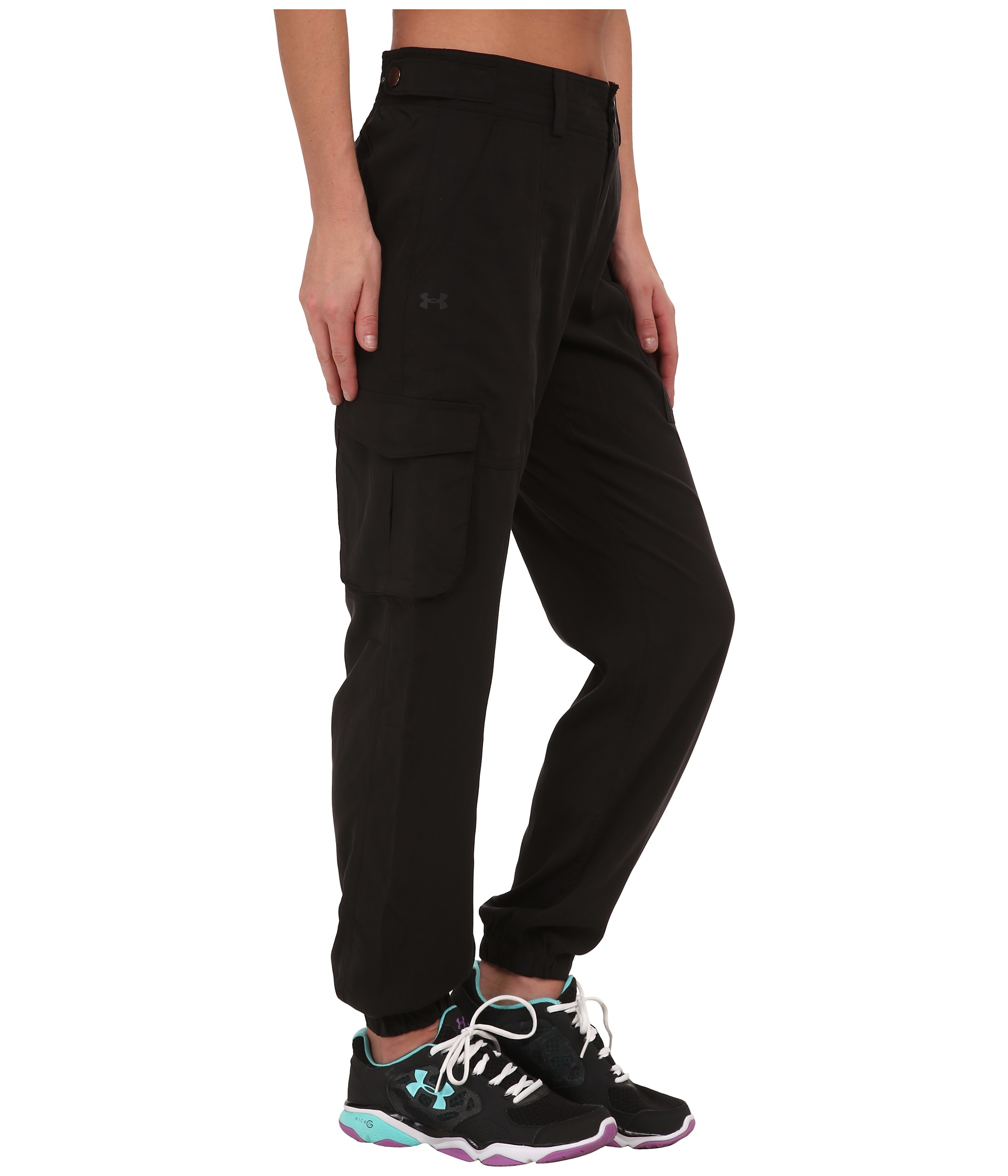 Under armour Ua Slim Air Woven Cargo Pants in Black | Lyst