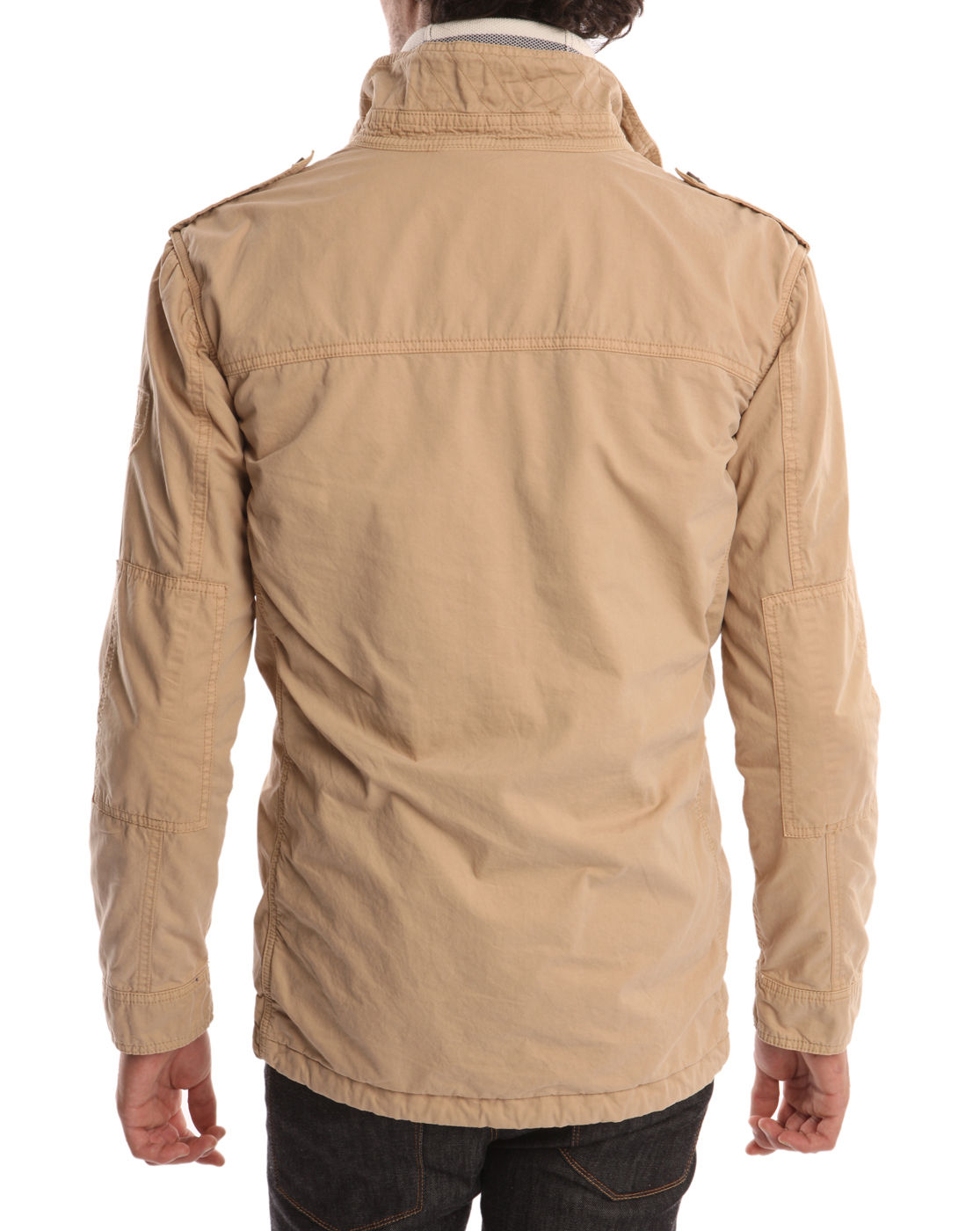 tommy hilfiger kingsly beige cotton safari jacket in natural for men lyst. Black Bedroom Furniture Sets. Home Design Ideas
