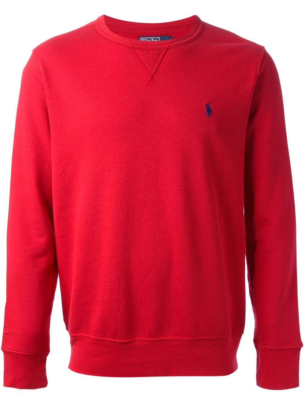 lyst polo ralph lauren classic sweatshirt in red for men. Black Bedroom Furniture Sets. Home Design Ideas