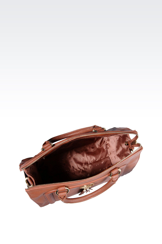 de4717e34d Lyst - Armani Jeans Bauletto Bag in Faux Saffiano with Tassels in Brown