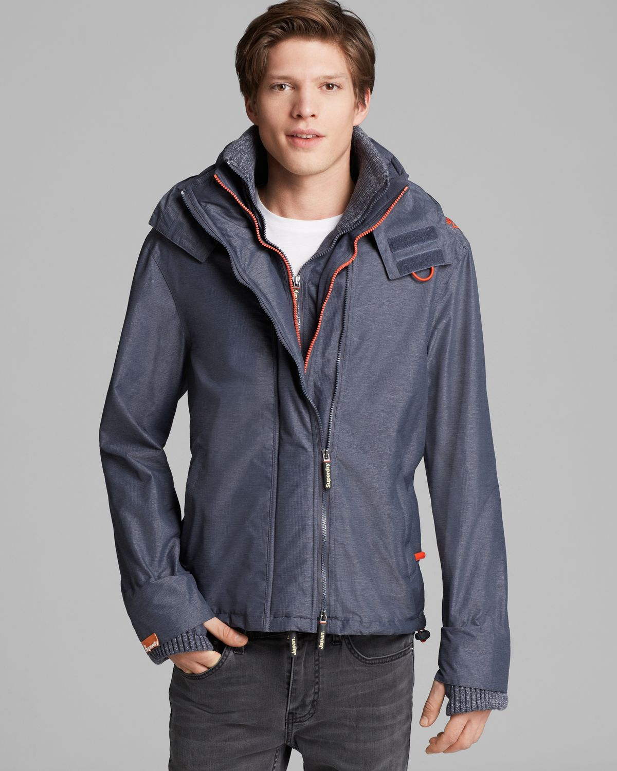 Superdry: Superdry Hooded Technical Popzip Windcheater Jacket