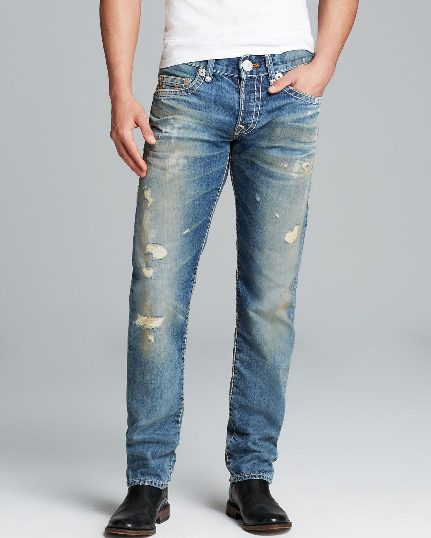 4c63d64f1c4f Lyst - True Religion Jeans Geno Super T Distressed Straight Fit in ...