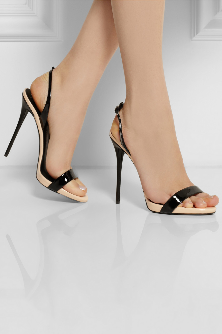 431417703 ... wholesale giuseppe zanotti coline twotone patentleather sandals in  black lyst d827a 6151b