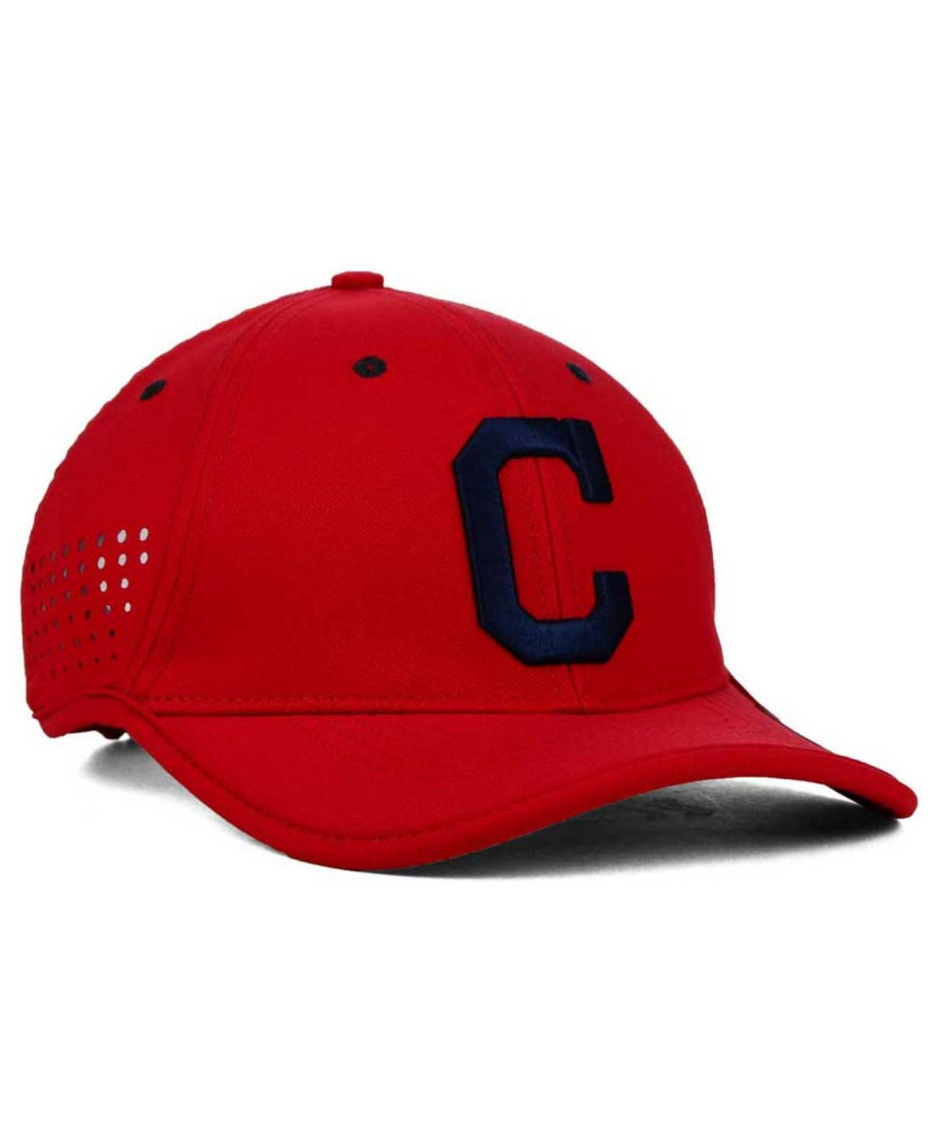 hot sale online c0bbf b6a06 ... where to buy lyst nike cleveland indians vapor swoosh adjustable cap in  red for men c35e4