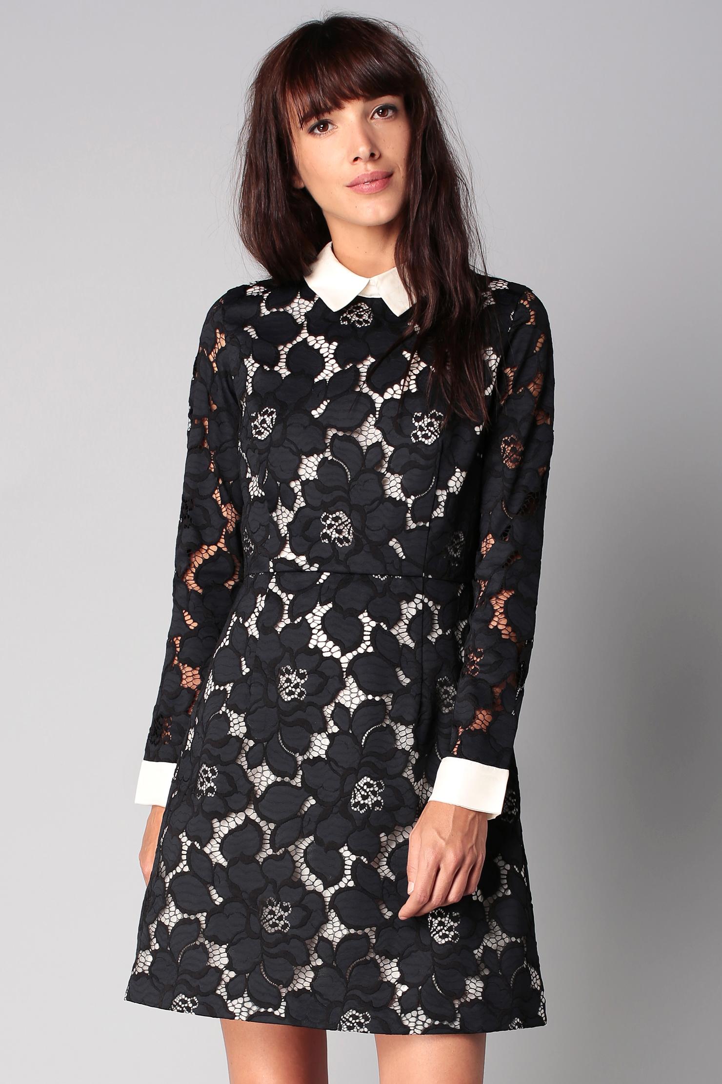 paul joe sister lace dress in black blue lyst. Black Bedroom Furniture Sets. Home Design Ideas