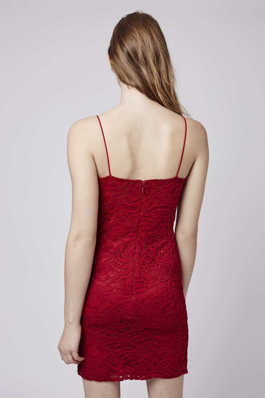 Red dress bodycon floral dress