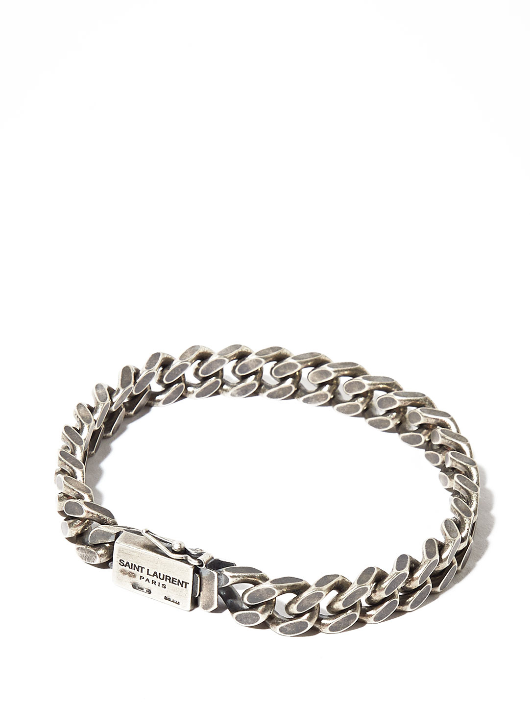 lyst saint laurent mens silver chain bracelet in. Black Bedroom Furniture Sets. Home Design Ideas