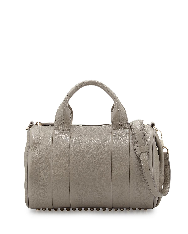alexander wang rocco studbottom satchel bag oyster in gray. Black Bedroom Furniture Sets. Home Design Ideas