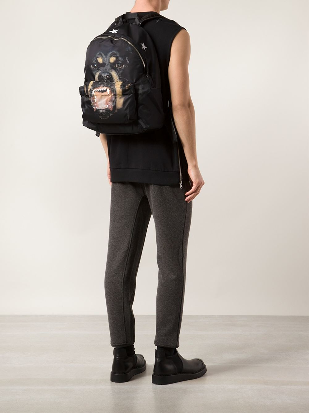 Lyst - Givenchy Rottweiler Print Backpack in Black for Men 44768806a6d2b