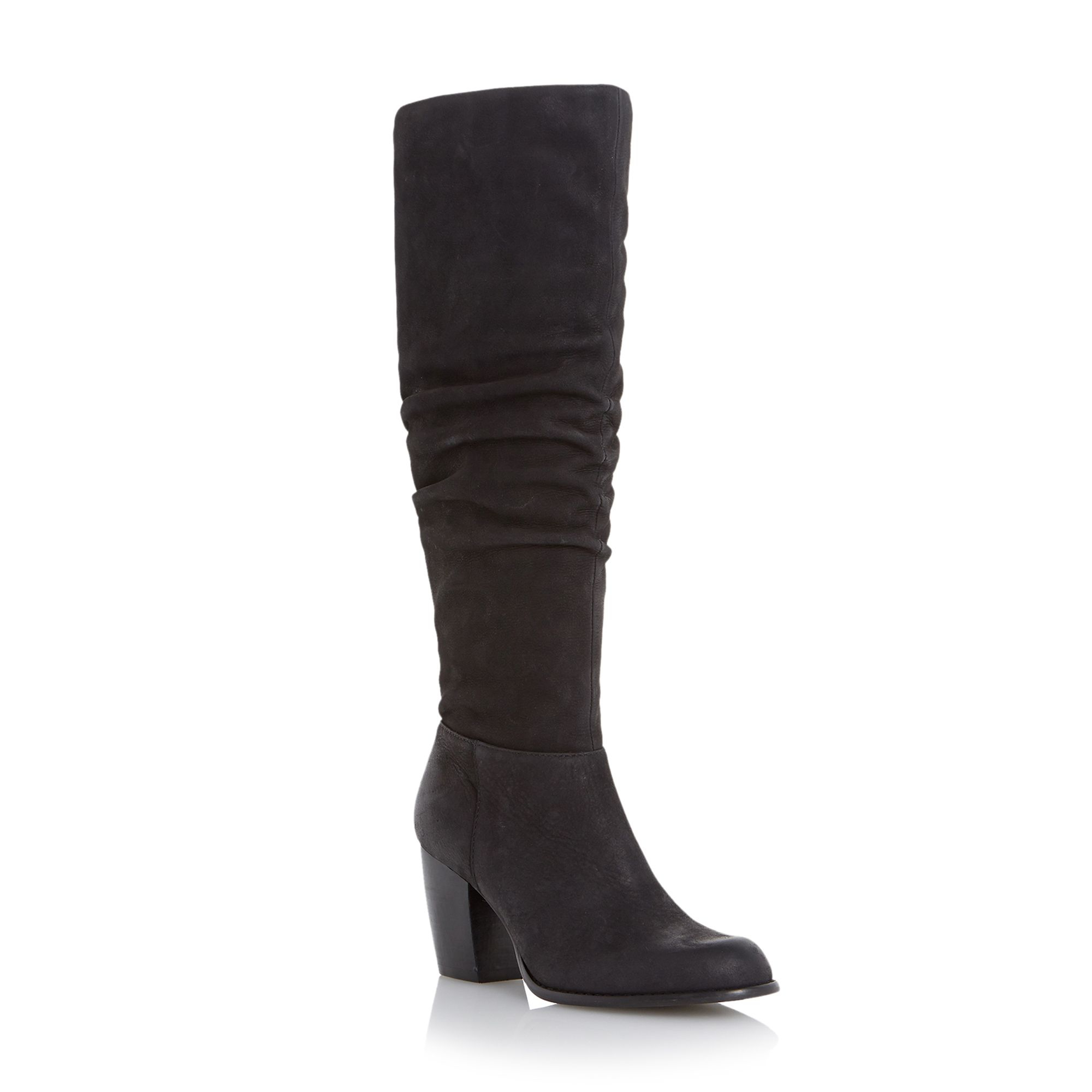 linea tayley slouch leather knee high boots in black lyst