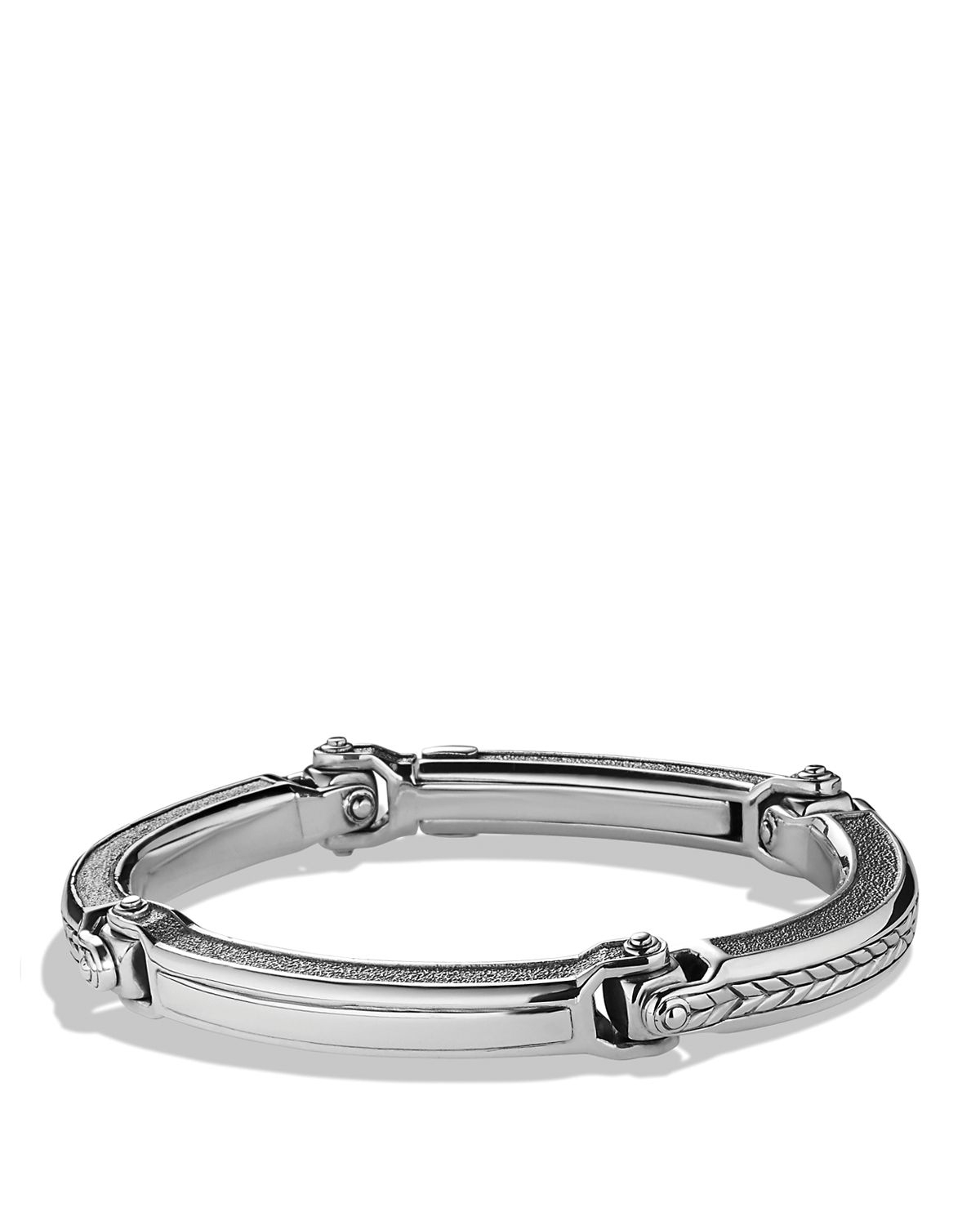 Lyst David Yurman Chevron Id Bracelet In Metallic For Men