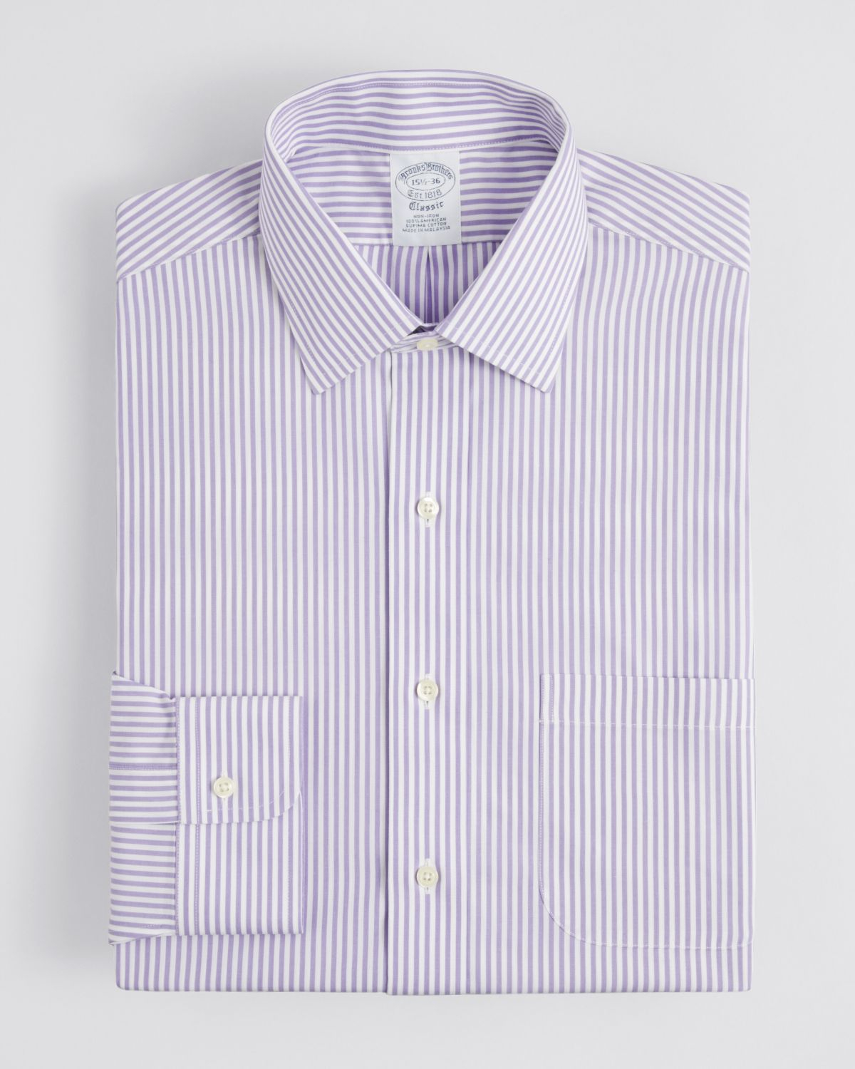 Brooks brothers puppytooth check dress shirt classic fit Brooks brothers shirt size guide