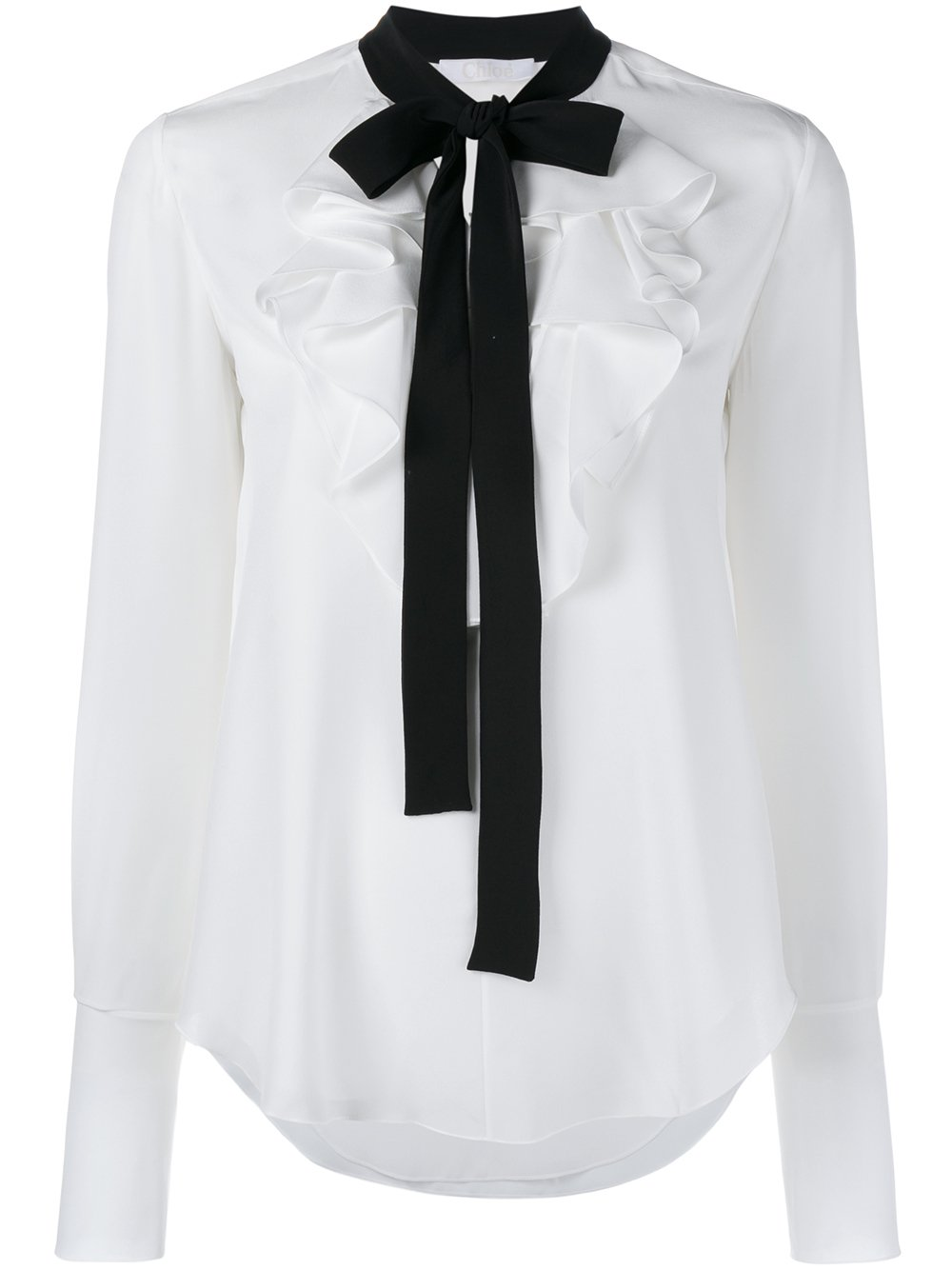 ruffle sleeve blouse - White Chlo Cheap Sale Limited Edition Online Cheap Price TJxsdT