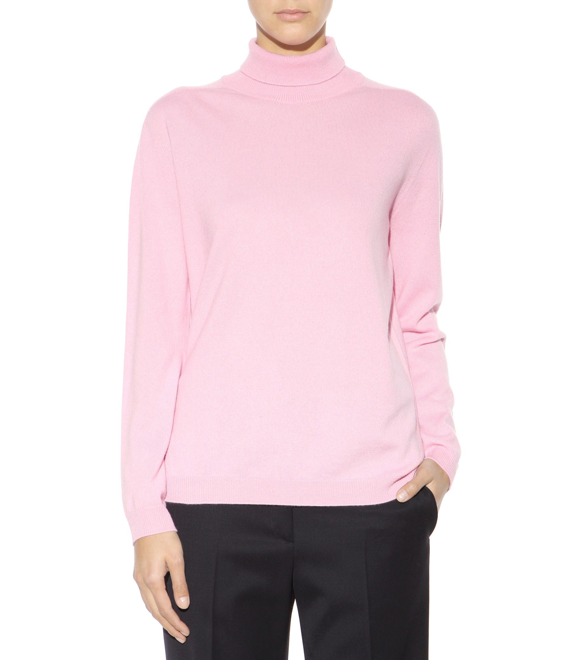 Jil Sander Pink Cashmere Sweater - Cardigan With Buttons