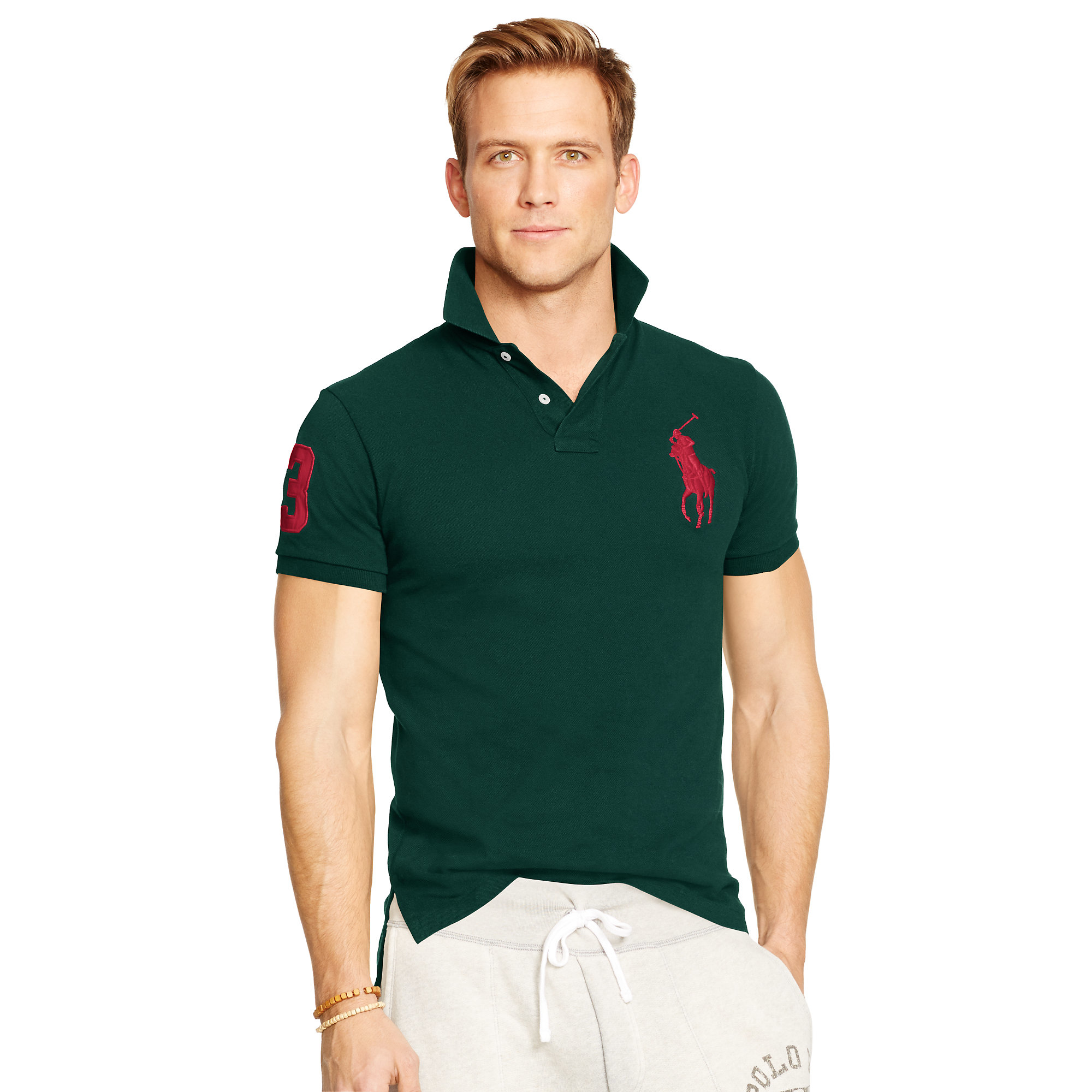 4a07cadc1c818 ... aliexpress lyst polo ralph lauren custom fit big pony polo in green for  men 95f04 0bd20