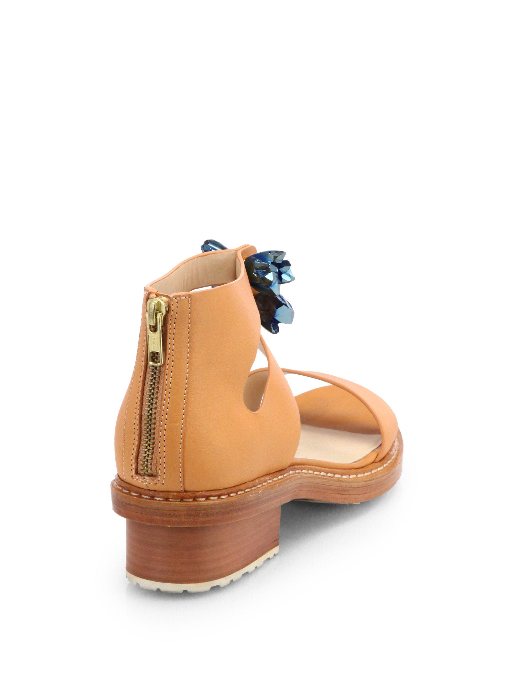 3.1 Phillip Lim Cosmic Leather Sandals release dates discount fashionable outlet affordable C09Euqdv