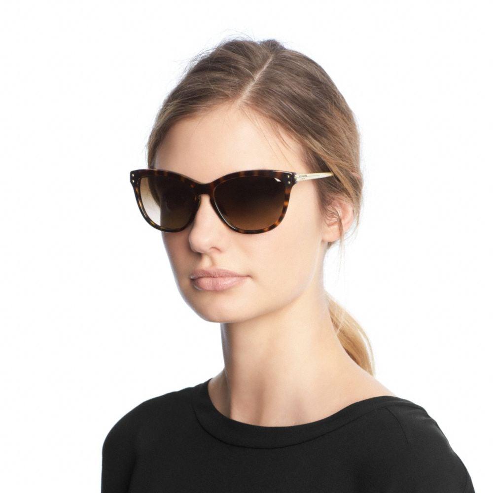 Lyst Coach Celia Sunglasses In Brown