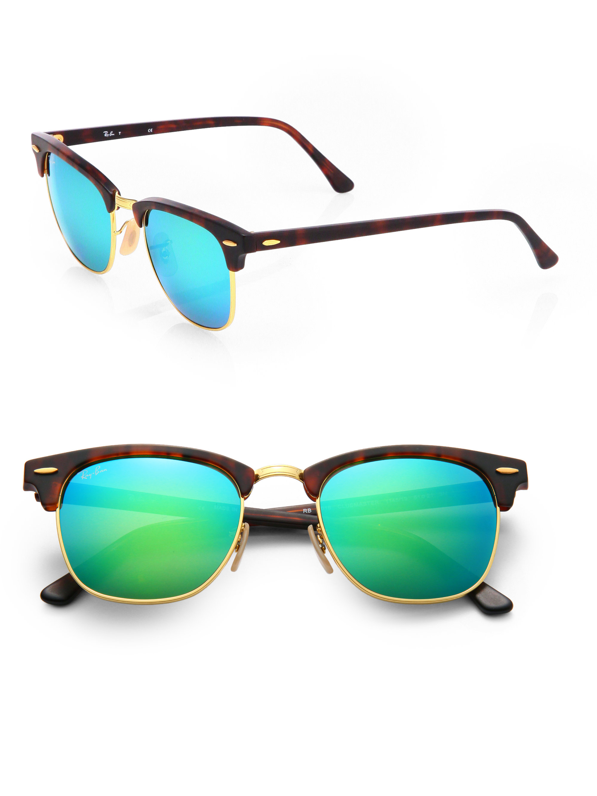 ray ban mirrored clubmaster sunglasses  gallery. previously sold at: saks fifth avenue · men's mirrored sunglasses men's ray ban clubmaster
