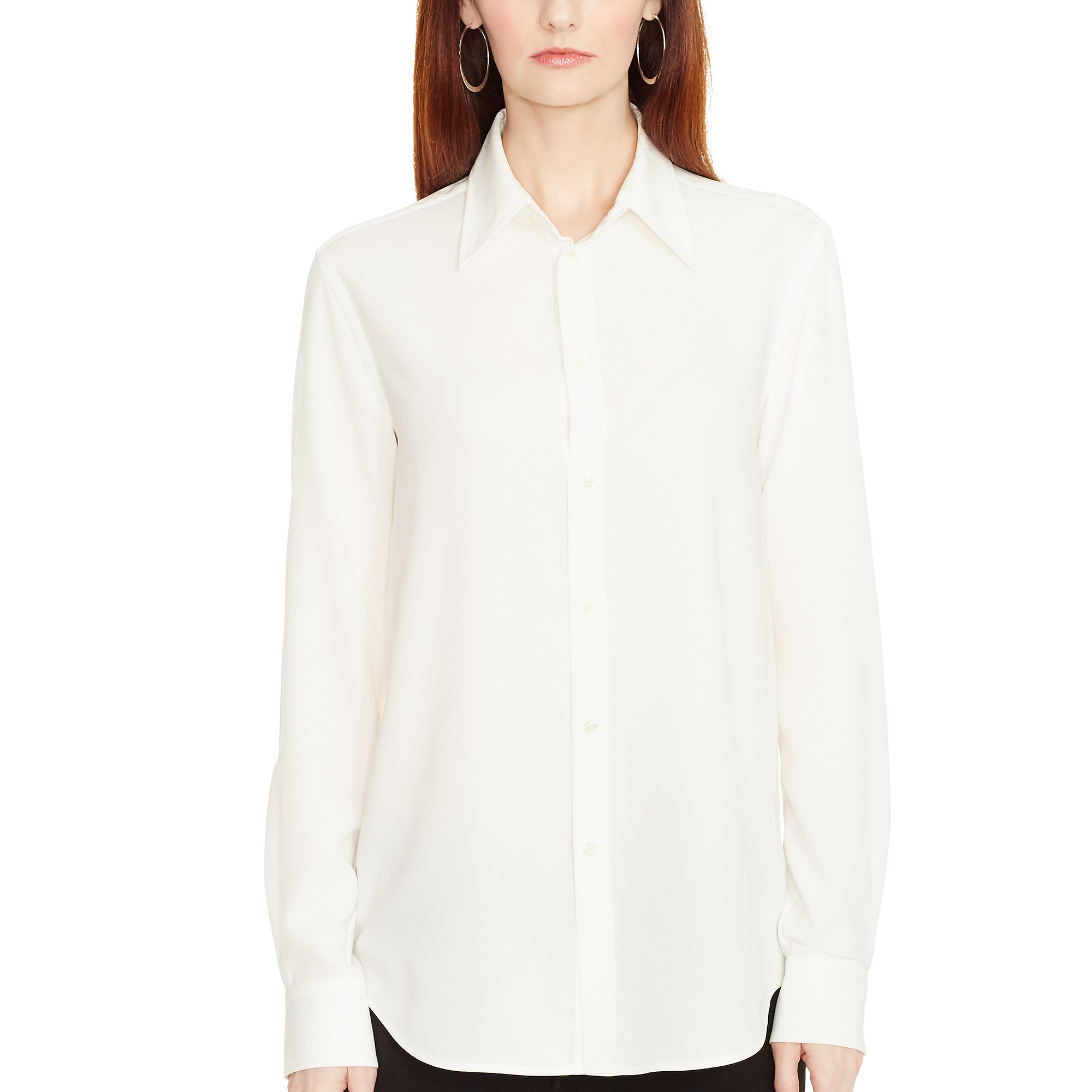 Polo ralph lauren Twill Button-down Shirt in Natural | Lyst