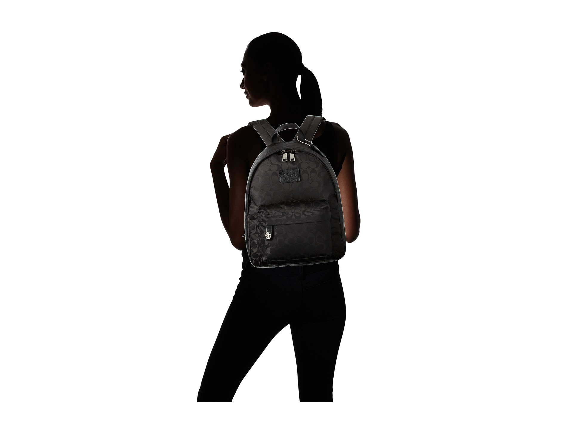 df3d9fd37 ... promo code for reduced lyst coach nylon small backpack in black 743b5  0f8ed c96e9 af53e