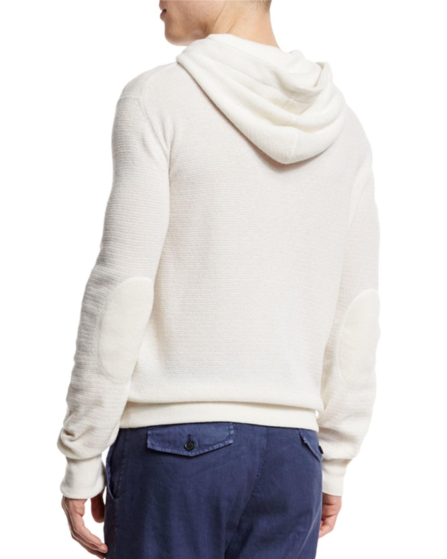 Ermenegildo zegna Cashmere Hooded Pullover Sweater in White for ...