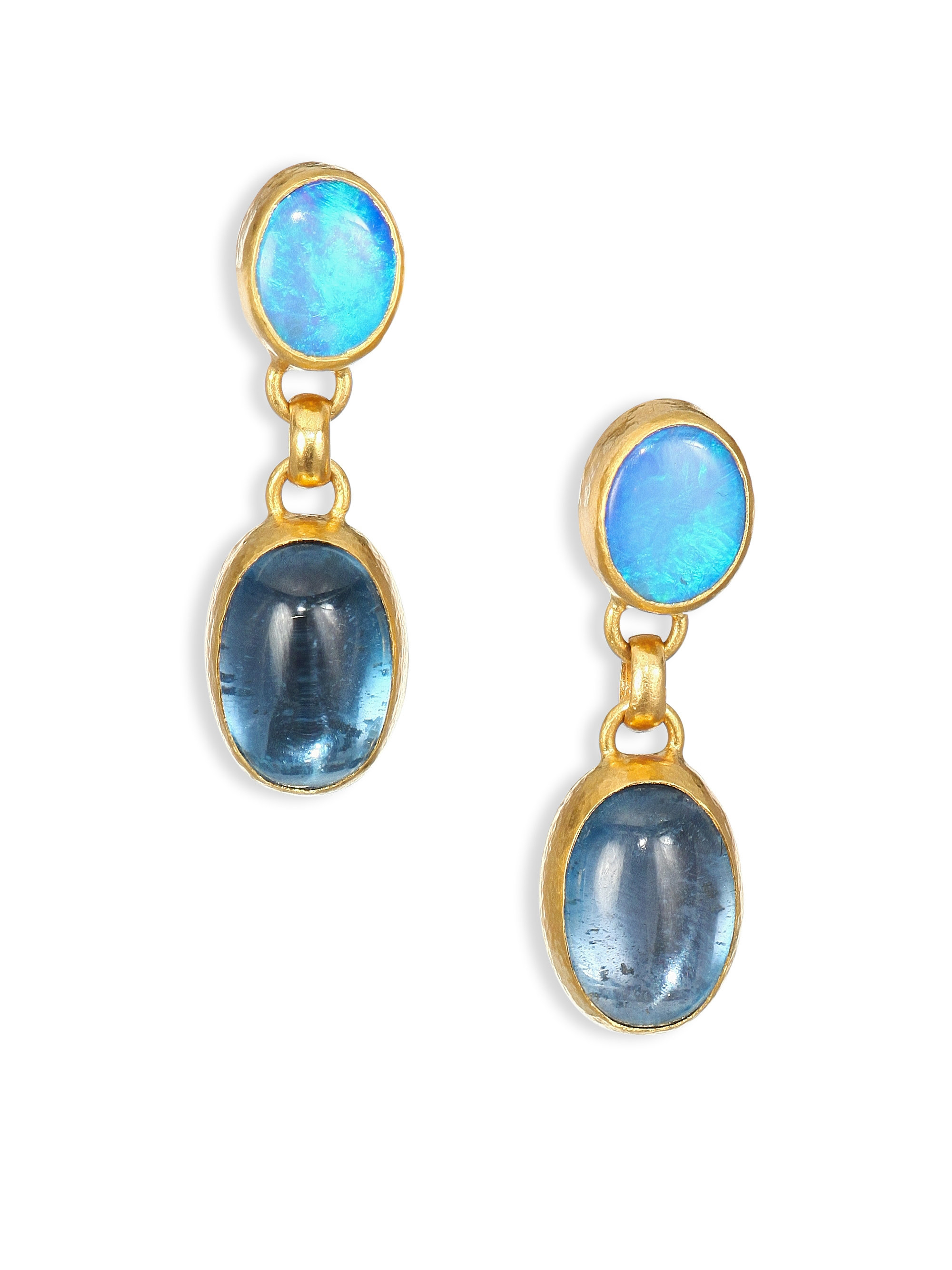 Gurhan Amulet Hue Diamond & Opal Drop Earrings XVbPsto