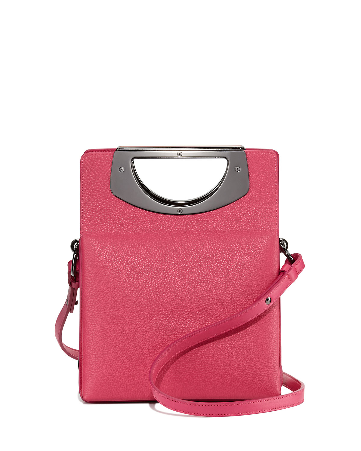 Pink mini passage leather crossbody bag