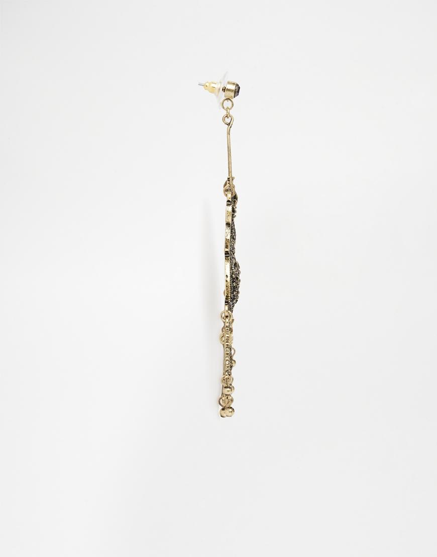 Asos Filigree Statement Filigree Chandelier Earrings in Metallic ...