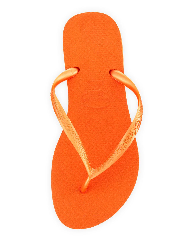 7160b85289b9 Lyst - Havaianas Slim Metallic Flip-flop in Orange