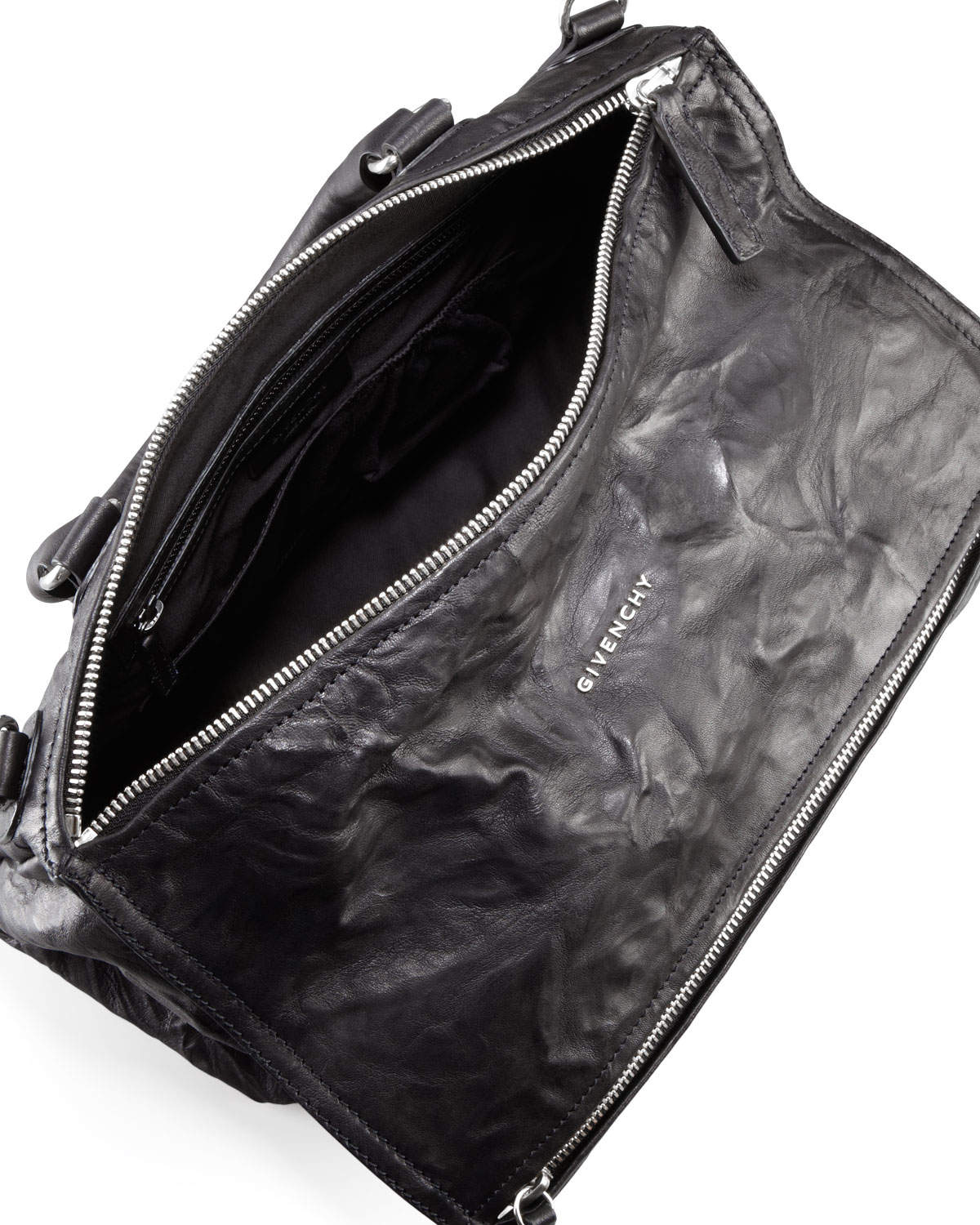 Lyst - Givenchy Pandora Large Leather Satchel Bag in Black ede8b3e8a2e4b