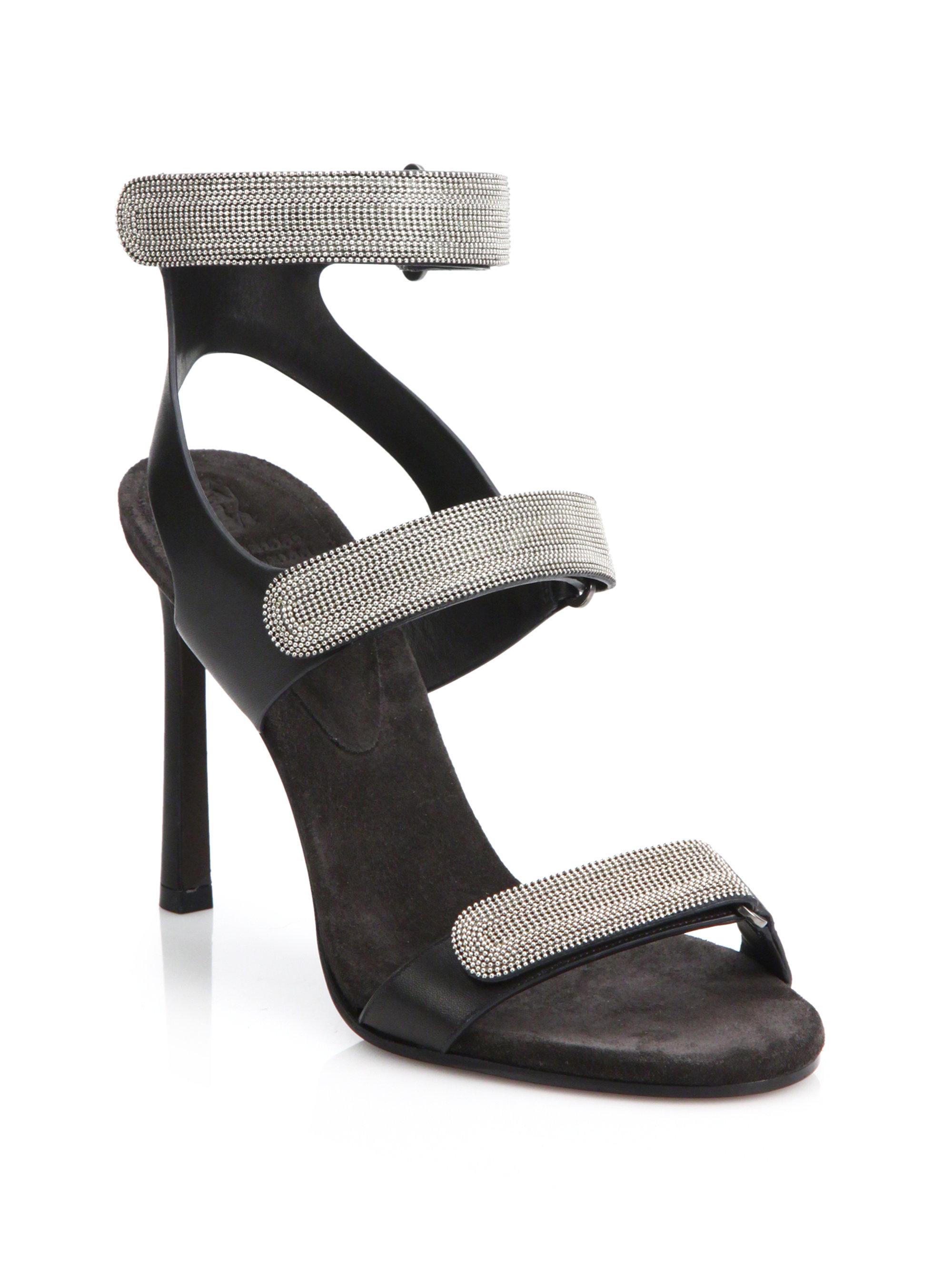 cheap new Brunello Cucinelli Monili-Trimmed Ankle Strap Sandals reliable cheap online JgoQl