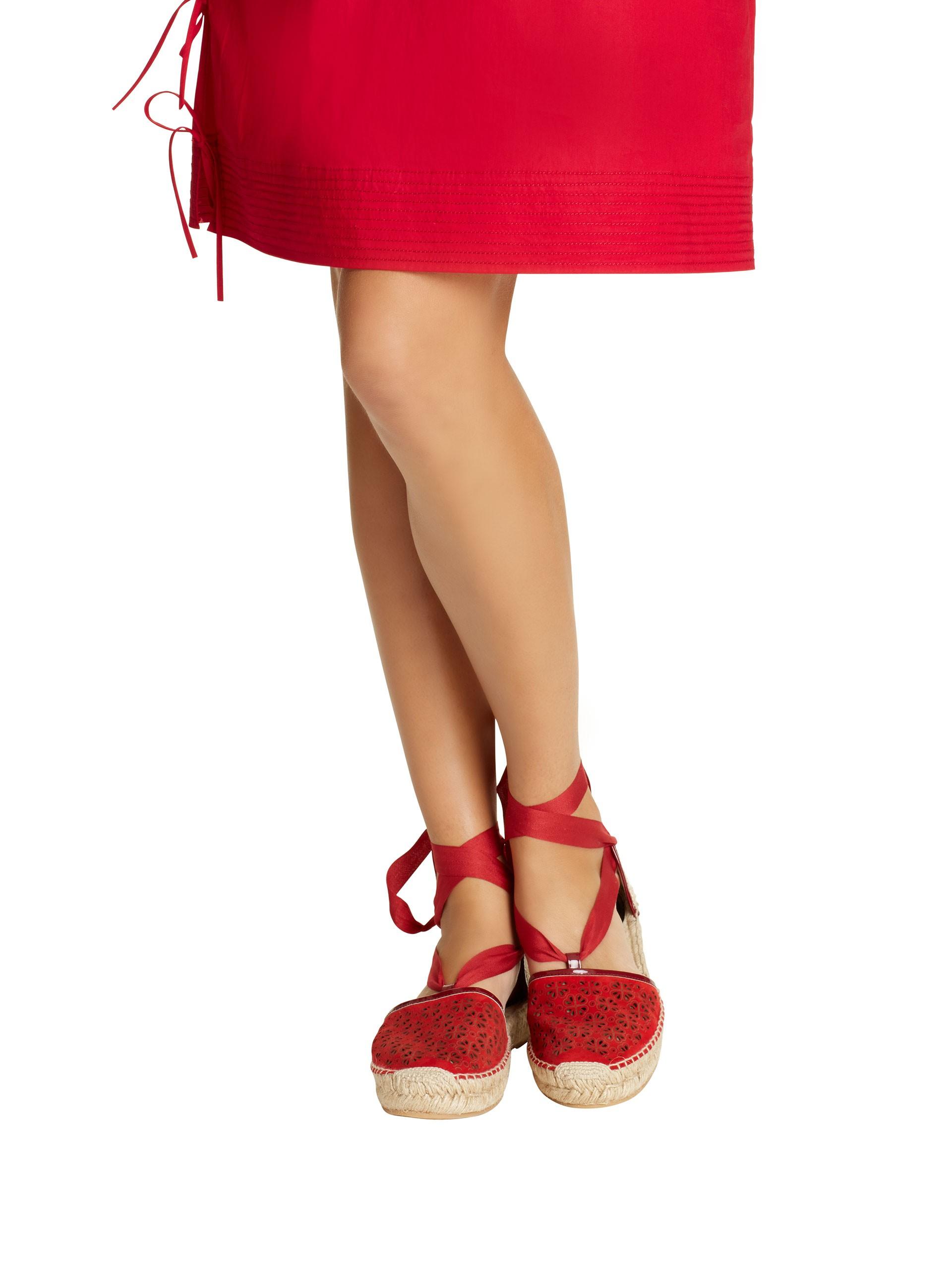4360f982b Oscar de la Renta Ruby Laser-cut Suede Adriana Espadrilles in Red - Lyst