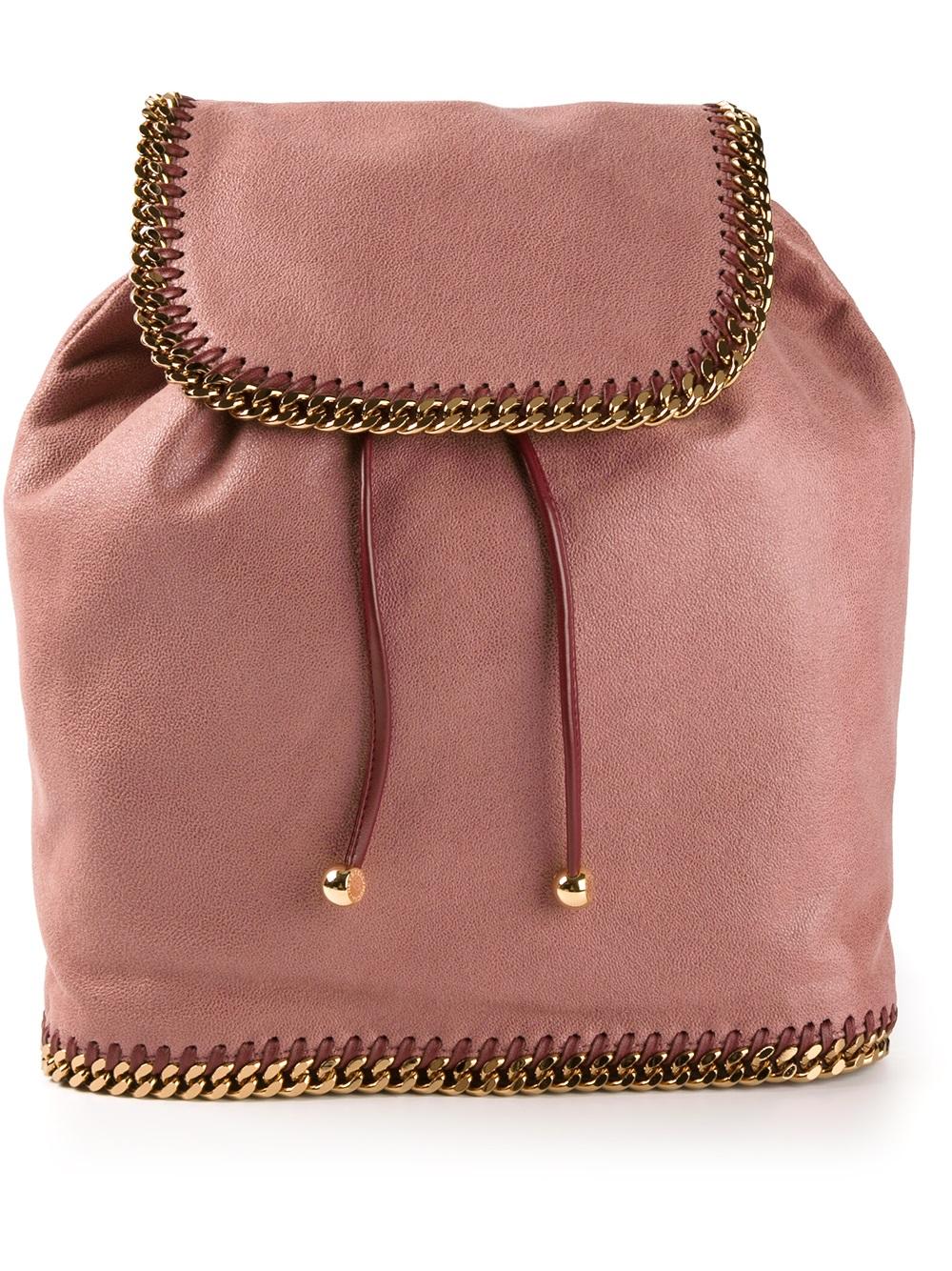 stella mccartney backpack in pink pink purple lyst. Black Bedroom Furniture Sets. Home Design Ideas