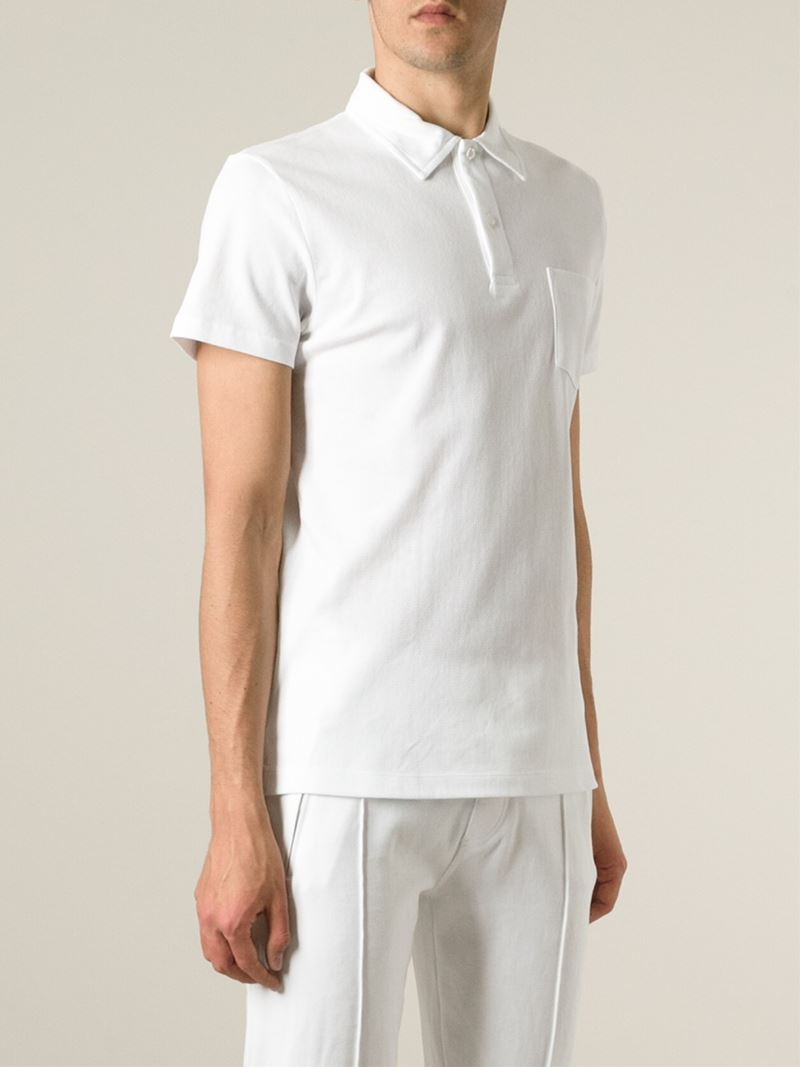 4c541ab4 Sunspel 'riviera' Polo Shirt in White for Men - Lyst