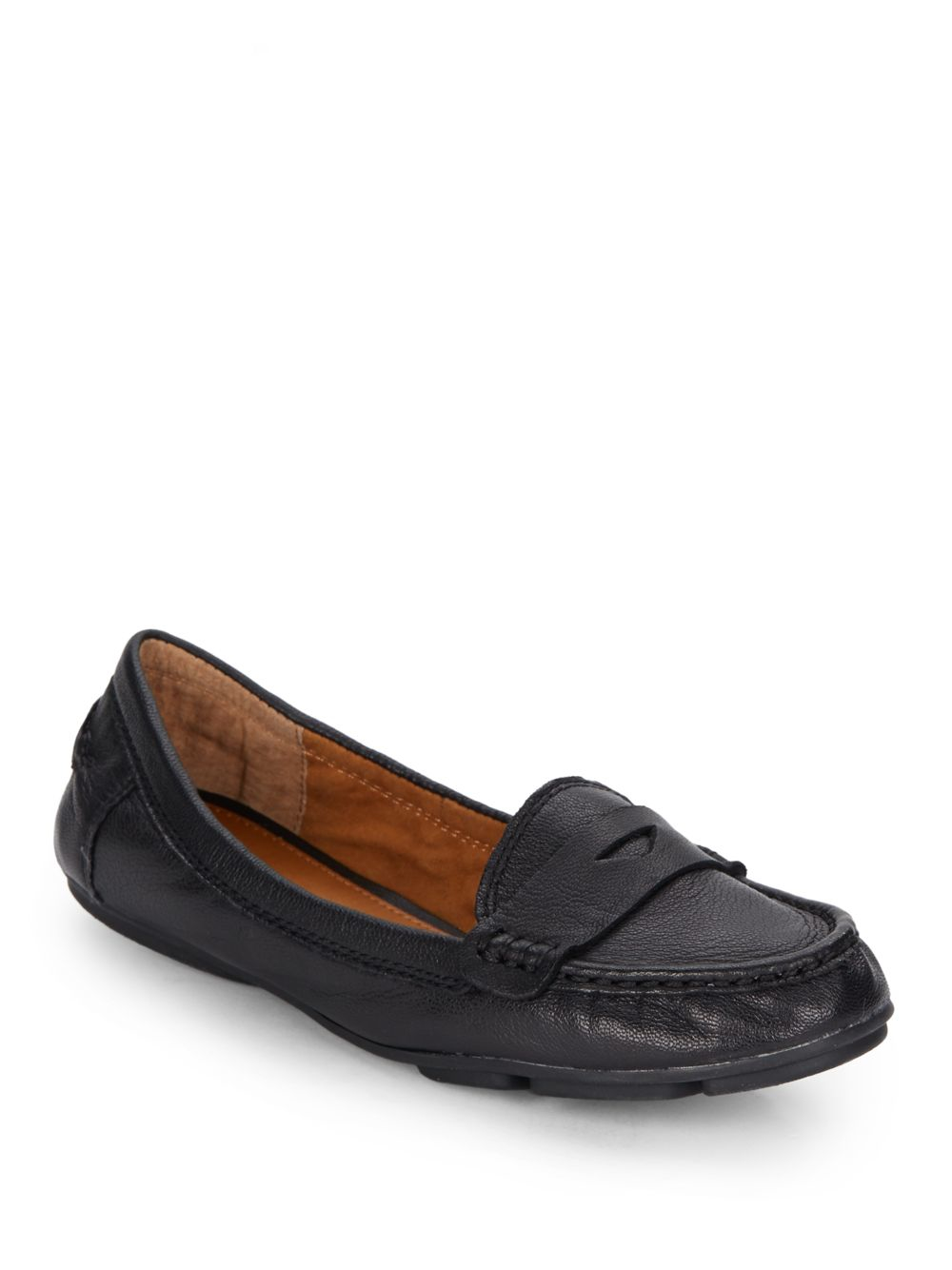 07b2e27ec Lyst - Lucky Brand Feverton Leather Penny Loafers in Black