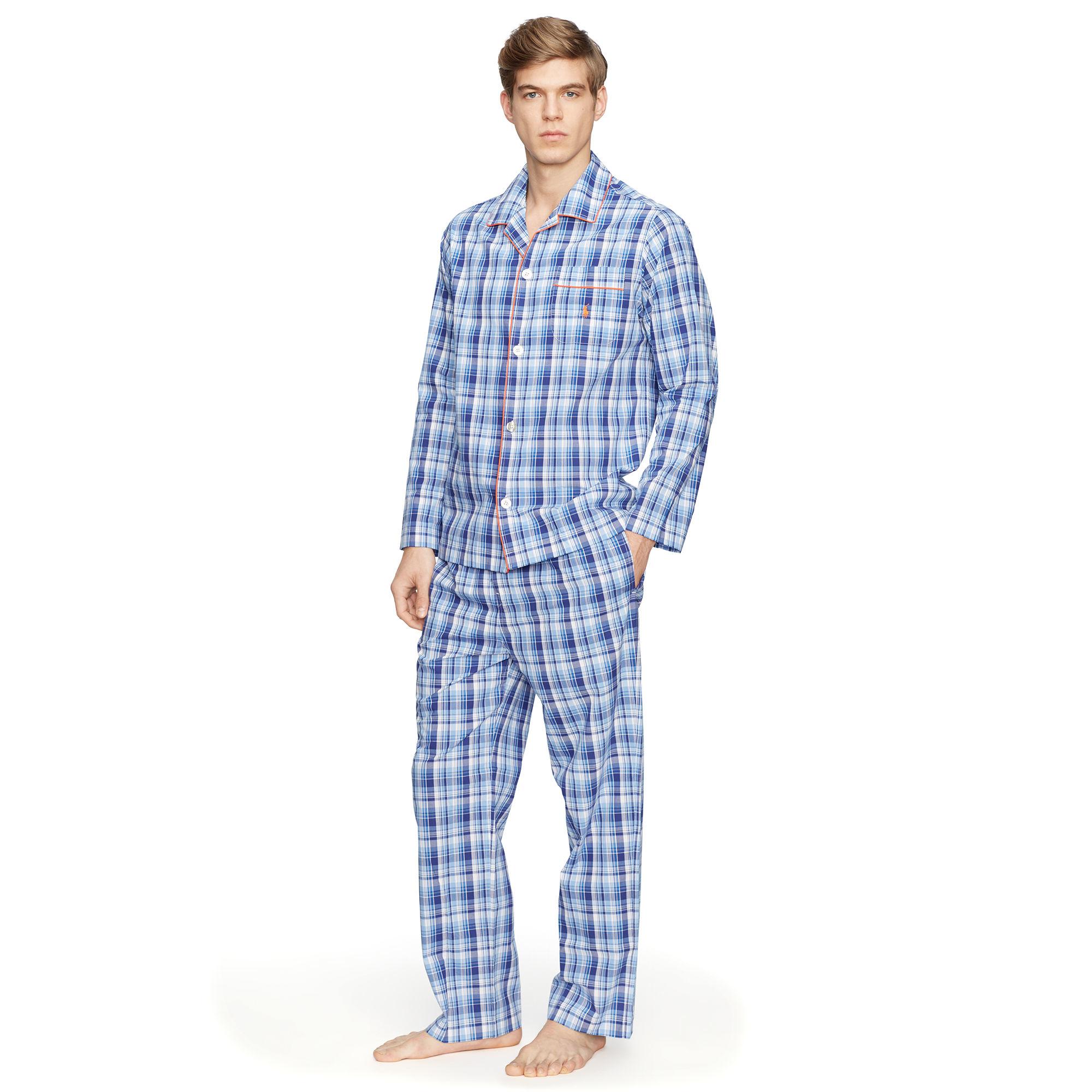 5789dc8452 Polo Ralph Lauren Plaid Cotton Pajama Set for Men - Lyst