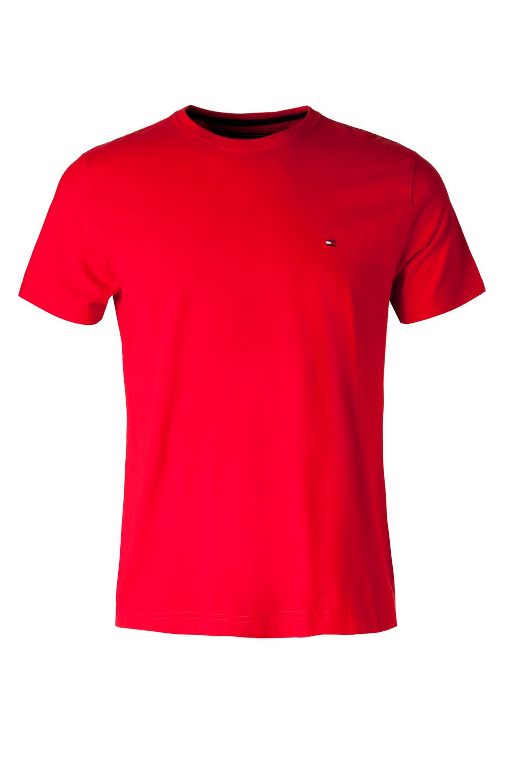 tommy hilfiger red flag crew neck short sleeve t shirt short sleeve t. Black Bedroom Furniture Sets. Home Design Ideas