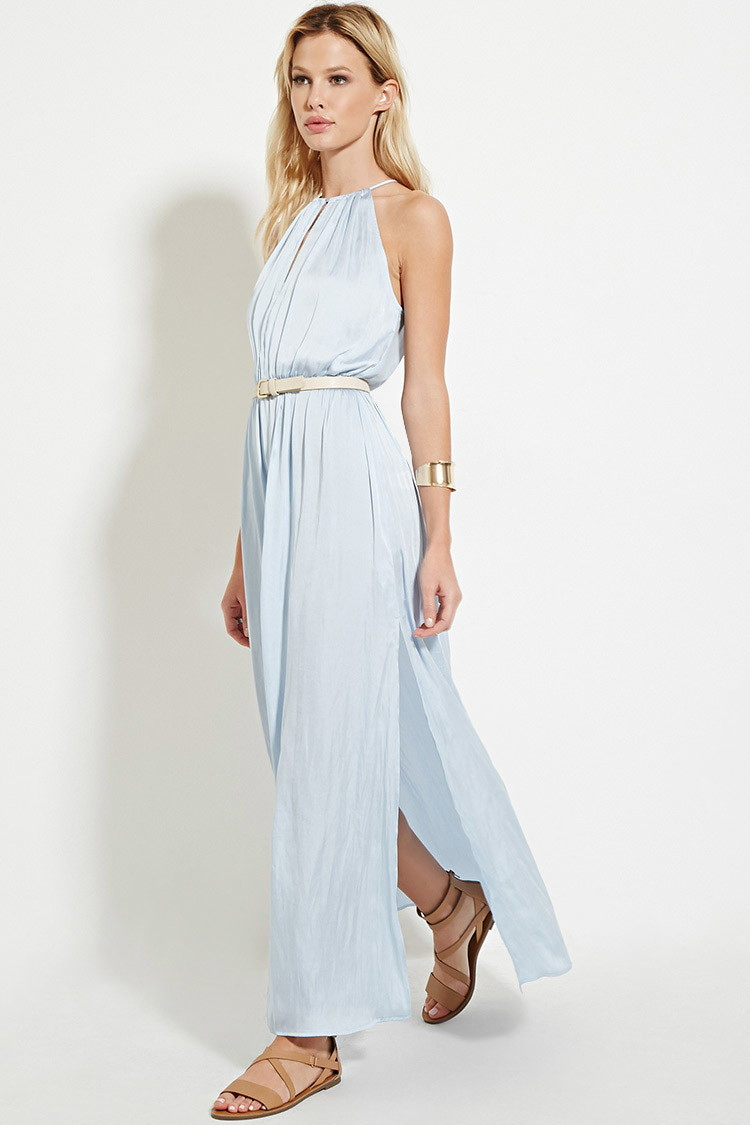Lyst - Forever 21 Satin High-slit Maxi Dress You\'ve Been Added To ...