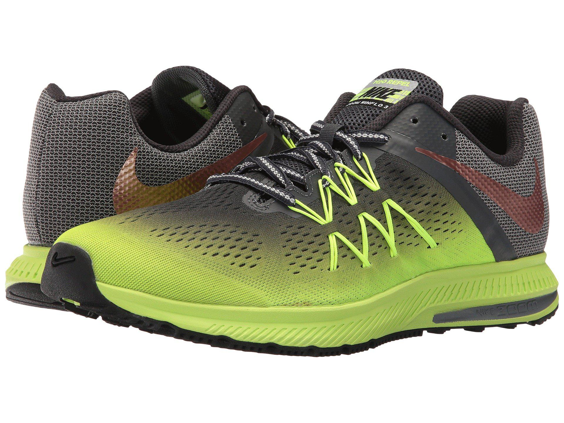 308826516b30 ... running shoes e68ab 203c8  australia nike. mens green air zoom winflo 3  shield 4267b 0ac17