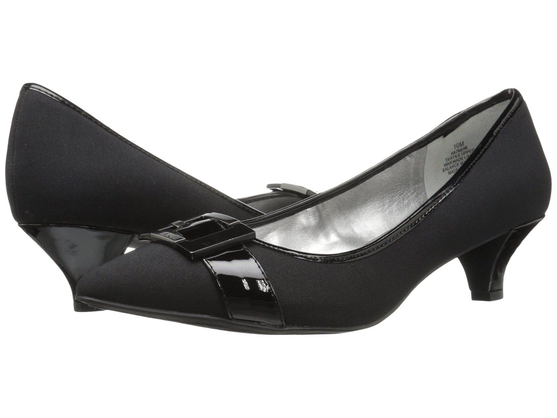 Womens Shoes Anne Klein AK7Meni Black/Black Fabric