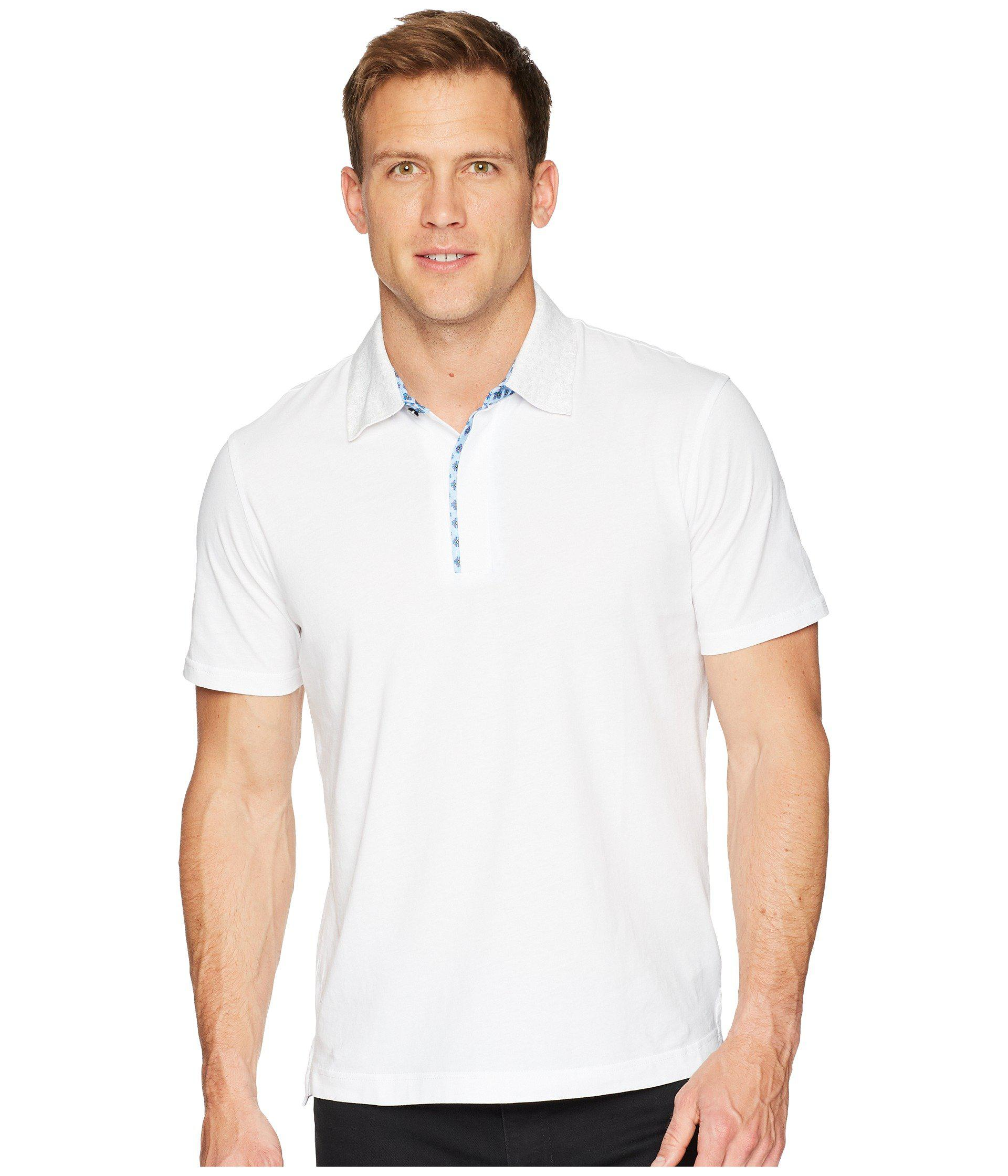 6a8518c8 Lyst - Robert Graham Diego Short Sleeve Knit Polo in White for Men ...