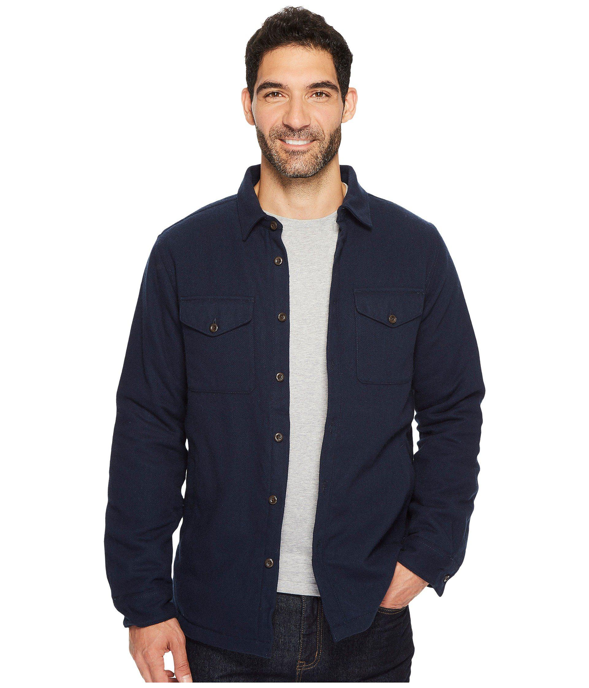 Lyst the north face cabin fever wool shirt in blue for men save 30 the north face mens blue cabin fever wool shirt sciox Images